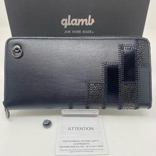 glamb - JAM HOME MADE glamb 長財布 グラム ブラック ジップ