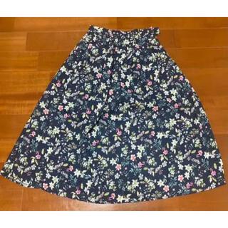 エニィスィス(anySiS)のanysisの花柄スカート(ひざ丈スカート)