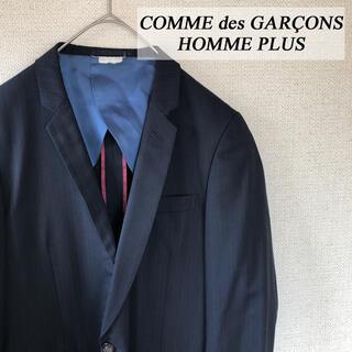 コムデギャルソンオムプリュス(COMME des GARCONS HOMME PLUS)のコムデギャルソンオムプリュス ストライプテーラードジャケット ブラック S(テーラードジャケット)