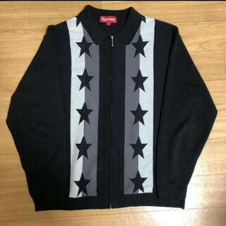 Supreme - supreme 20ss stars zip up sweater polo s