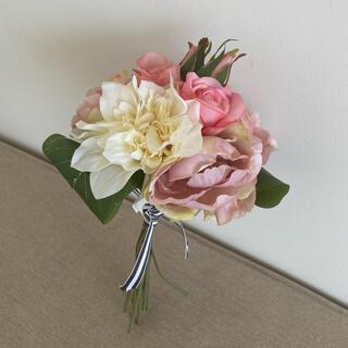Francfranc - 造花 花束 ピンク 薔薇