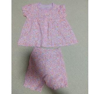 アンパサンド(ampersand)の花柄 ピンク Ampersand アンパサンド 80 パジャマ 未使用(パジャマ)