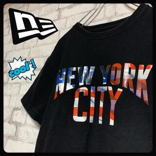 ニューエラー(NEW ERA)の【NYC】NEW ERA ニューエラ/Tシャツ ビッグプリント 刺繍ロゴ(Tシャツ/カットソー(半袖/袖なし))