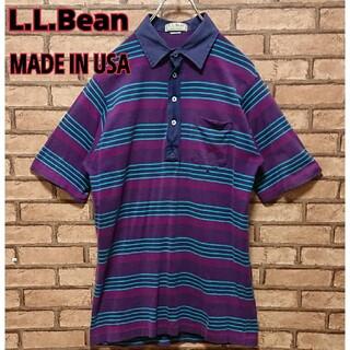 エルエルビーン(L.L.Bean)のL.L.Bean エルエルビーン アメリカ製 メンズ ボーダー ポロシャツ(ポロシャツ)
