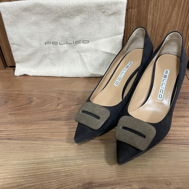 PELLICO(ペリーコ)の最終!超美品 ペリーコ パンプス 6.5cmヒール アニマ 37.5 フィッビア レディースの靴/シューズ(ハイヒール/パンプス)の商品写真