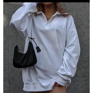 ALEXIA STAM - ACLENTAアクレント ポロネックロングTシャツ ホワイト新品