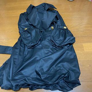 薄手トレンチコート 黒(トレンチコート)