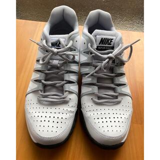 ナイキ(NIKE)のNIKE テニスシューズ 26cm 白×黒 VAROR COURT ナイキ(シューズ)