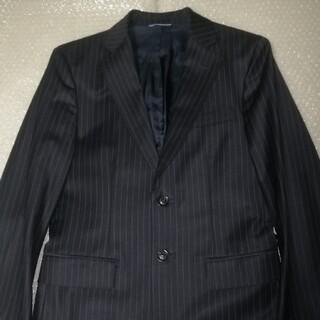 ジュンハシモト(junhashimoto)のジュンハシモト ブルーストライプテーラードジャケット サイズ2 ブラック(テーラードジャケット)