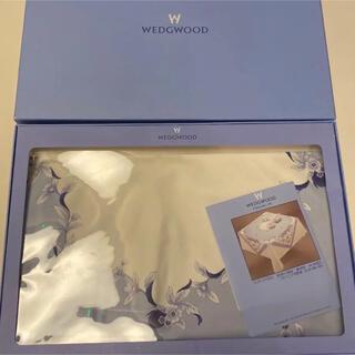ウェッジウッド(WEDGWOOD)の新品未使用 ウェッジウッド  テーブルクロス ブループラム (テーブル用品)