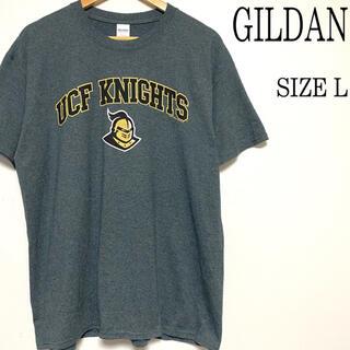 GILDAN - US古着 GILDAN ギルダン プリント Tシャツ グレー L