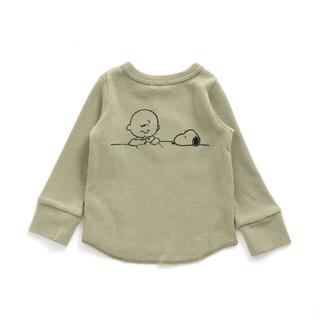 エフオーキッズ(F.O.KIDS)の即購入大歓迎☆スヌーピー ワッフル生地ロングTシャツ☆新品未使用(Tシャツ)