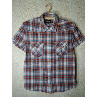 ピーピーエフエム(PPFM)のo2646 PPFM 半袖 チェック ウエスタン デザイン シャツ(シャツ)