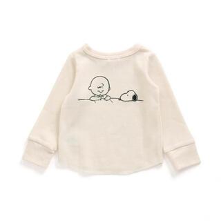 エフオーキッズ(F.O.KIDS)の即購入大歓迎☆スヌーピー ワッフル生地ロングTシャツ(Tシャツ)