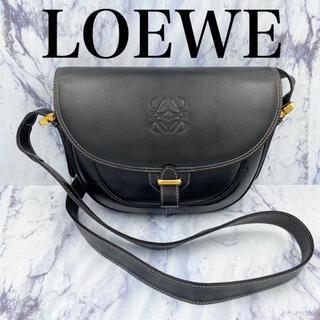 LOEWE - 【美品】オールドロエベ★ヴィンテージ ショルダーバッグ ハーフムーン 黒レザー