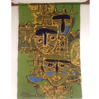 アンティックバティック(Antik batik)の【美品】インドネシアンバティック手描き ジョグジャ タペストリー(絵画/タペストリー)