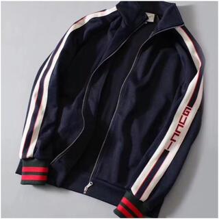 Gucci - GUCCI  ロゴストライプ テクニカルジャージー ジャケット