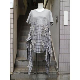 ミキオサカベ(MIKIO SAKABE)のmikio sakabe ミキオサカベ リボン装飾切替Tシャツ ワンピース(Tシャツ(半袖/袖なし))
