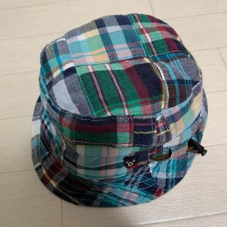 ダブルビー(DOUBLE.B)の【良品】 ダブルビー   ミキハウス バケットハット ハット 帽子 リバーシブル(帽子)