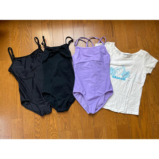 チャコット(CHACOTT)のChacottレオタード、Tシャツ4点セットサイズ140(ダンス/バレエ)