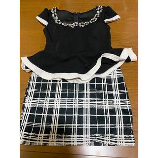 チェック ツーピース ドレス(ミニドレス)