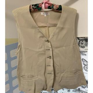 サンタモニカ(Santa Monica)のivory stripe vest(ベスト/ジレ)