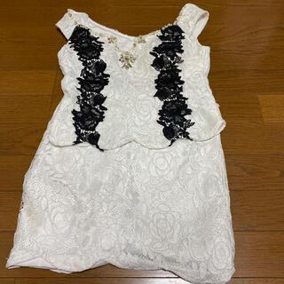 デイジー(Daisy)の白 黒 レース 2ピースドレス(ミニドレス)