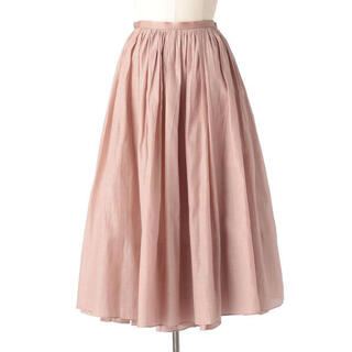 Drawer - Drawer シルクコットンギャザースカート ドゥロワー 36サイズ