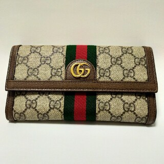 Gucci - オフィディア GGスプリーム シェリーライン 長財布 PVC