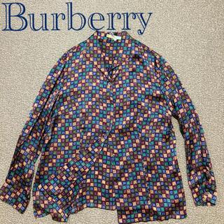 BURBERRY - Burberry 柄 シャツ ブラウス15号 長袖