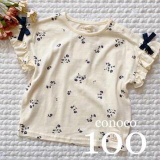 新作❁*スラブ 花柄T100 conoco(Tシャツ/カットソー)