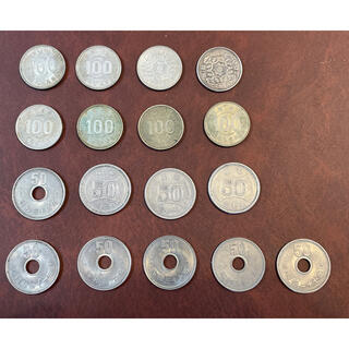 100円硬貨 鳳凰 旧100円硬貨 銀貨 旧50円硬貨 貨幣 17枚セット(貨幣)