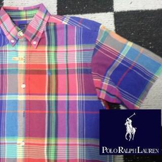 Ralph Lauren - 【ラルフローレン】半袖BDシャツ170cm(394)マドラスチェック