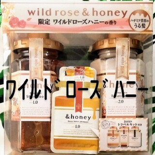 &honey アンドハニーディープモイスト★ワイルドローズハニーset(シャンプー/コンディショナーセット)