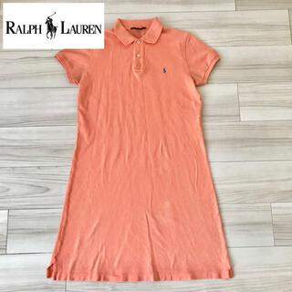 ラルフローレン(Ralph Lauren)のラルフローレン  ポロワンピース オレンジ 半袖ワンピース(ひざ丈ワンピース)
