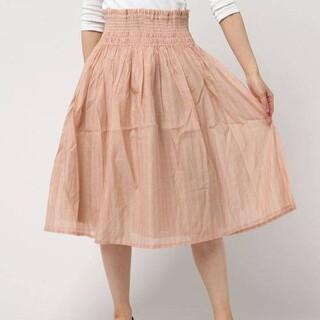ピュアルセシン(pual ce cin)の新品 ピュアルセシン チェックシャーリングスカート(ひざ丈スカート)