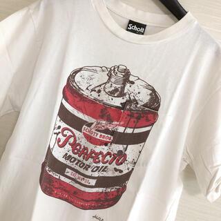 ショット(schott)のショットschottオイル缶T白S クライミーマッコイズネイバーフッドバンソン(Tシャツ/カットソー(半袖/袖なし))