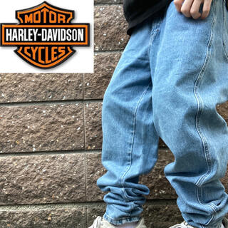 ハーレーダビッドソン(Harley Davidson)のハーレーダビッドソン 90s USA製 デニムパンツ バギーパンツ テーパード(デニム/ジーンズ)