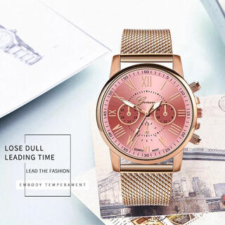 フォリフォリ(Folli Follie)の腕時計☆レディース ピンクゴールド 新品 SALE中❣️(腕時計)
