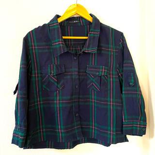 アーカイブ(Archive)の緑ピンクネイビー チェックシャツ(シャツ/ブラウス(長袖/七分))
