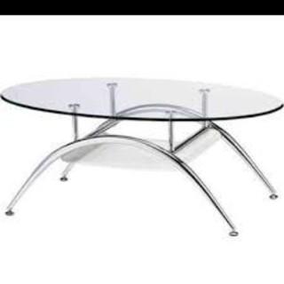 【引取り限定】ガラステーブル(ローテーブル)