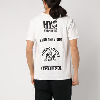 HYSTERIC GLAMOUR - ヒステリックグラマー HYS SOUNDS SCRATCH Tシャツ