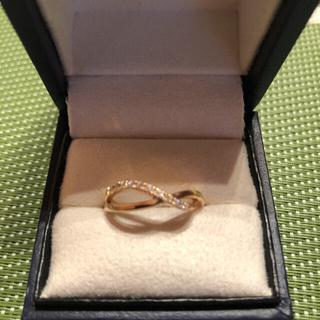 ヴァンドームアオヤマ(Vendome Aoyama)のk18 ピンクゴールド ダイヤモンドリング(リング(指輪))