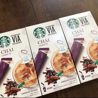 スターバックスコーヒー(Starbucks Coffee)のスターバックス ★ティーエッセンス チャイ 3箱 VIA★スタバ チャイ(コーヒー)