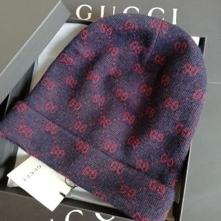 Gucci - 正規店購入 グッチ GG  アルパカウール ニットキャップ 新品
