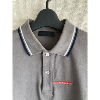 プラダ(PRADA)のプラダ PRADA ポロシャツ グレー(ポロシャツ)