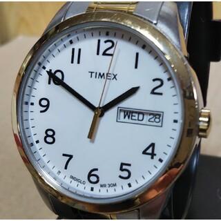タイメックス(TIMEX)のTIMEX タイメックス CR2016 CELL クォーツ 腕時計 ホワイト(腕時計(アナログ))