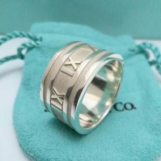 Tiffany & Co. - ティファニーリング アトラスワイド 925 メンズ レディース 18号