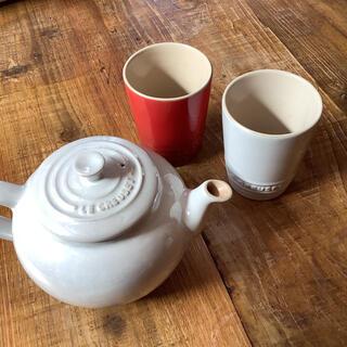 ルクルーゼ(LE CREUSET)のル・クルーゼ♡ティーポット&マグカップ2個セット(マグカップ)