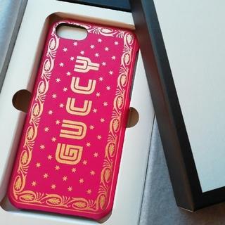 グッチ(Gucci)の正規店購入 新品 GUCCY Iphone7/8 ケースギフト箱、ショッパー付き(iPhoneケース)